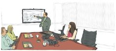WACSO Heritage Wealth Management Website Illustration Our Process http://joaniebrep.com/wacso-33/ #illustration #office #meeting #process