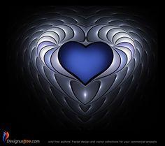 Fractal heart from DesignusFree.com