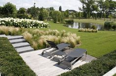 Dovi Landscape via shapedscape facebook february 2016 Landscape Architecture, Landscape Design, Garden Design, Stipa, Outdoor Furniture Sets, Outdoor Decor, Beautiful Gardens, Exterior Design, Sun Lounger
