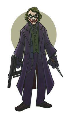 A cartoon Joker via The Dark Knight Type by ~jimmymcwicked