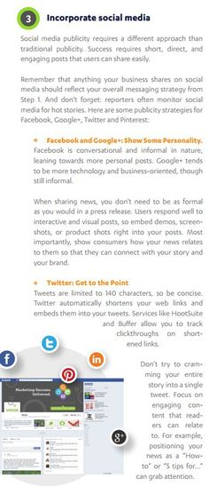 Incorporating social media is one of a few ways you can start to get the word out about your business