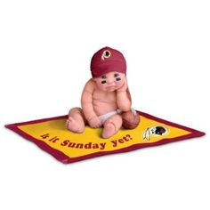 NFL Licensed Washington Redskins #1 Fan Baby Doll Collection #Redskins #NFL