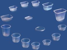 round and rectangular PP containers 125ml-2000ml with covers