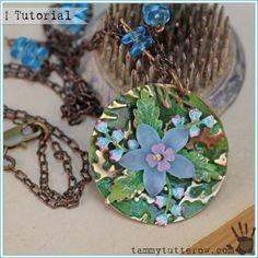 Tammy Tutterow   Vintaj Domed Floral Pendant Tutorial
