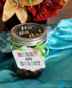 Cute and simple, and perfect for any occasion, a Chalkboard Mason Jar Gift idea.