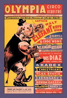 Buyenlarge 01311 7P2030 Olympia Circo Ecuestre Olympia Circus 20x30 Poster | eBay