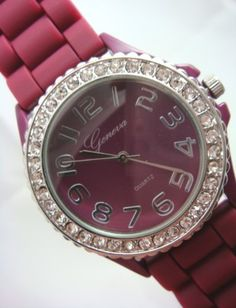 http://interiordemocrats.org/geneva-dark-berry-silicone-crystal-large-face-watch-p-5049.html