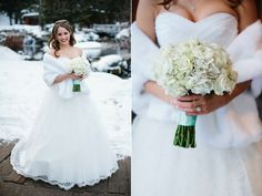 tiffany blue white winter Sundance wedding flowers utah calie rose