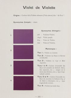Directory colors to help determine the colors of flowers, foliage and fruit. Published in 1905 by Messrs. French and chrysanthémistes of René Oberthür
