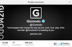 Top 10 People To Follow On Twitter For Technology News and Updates @Gizmodo