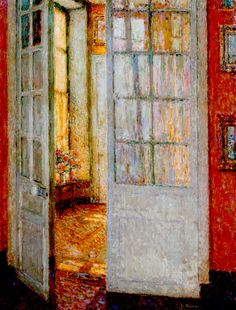 """ The Sun in the Windows - Henri Le Sidaner 1936 """