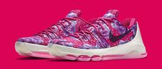 Kevin Durant Raises Breast Cancer Awareness on Floral Nikes | Solecollector