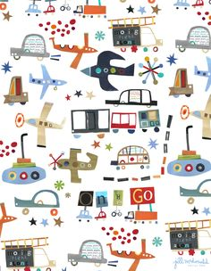 Transportation Print by Jill McDonald Design