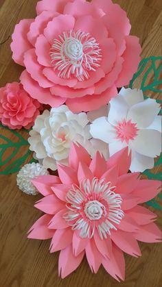 Flores de papel de cuarto de niños decoración por PoshPaperDesignss