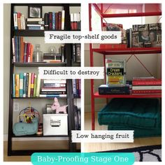 baby proofing - Child Proof Bookshelves
