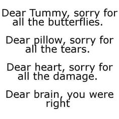 Dear brain, you were right