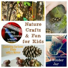 Nature crafts & fun for kids plus links to lots more child centered ideas