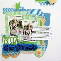 Topic: Make a page that serves as a word of enoucouragement or someone you love @Courtney Baker Walsh #scrapbooking #scrapbookingidea