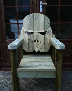 @Greg Estrada/#StormTrooper deck chair.   This sci-fi furniture piece was cooked up recently by the folks at GotWood Workshop. You can ogle all you want, but unfortunately, copyright issues make this a one-off creation.  #StarWars