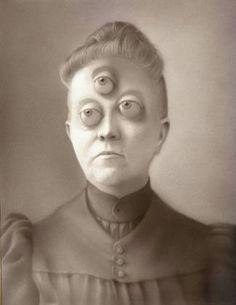 three eyes.