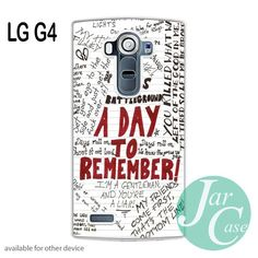 a day to remember Lyrics 1 Phone case for LG G4 and other cases