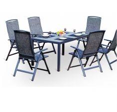 Zahradní kovový nábytek (stolová sestava) Stone 6