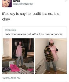 😂😂oh, noooo, riri. had you not had jeans on, it would have probably made it more acceptable. lol funny memes hilarious memes to cure your boredom Dankest Memes, Funny Memes, Jokes, Sarcastic Memes, Funniest Memes, Dog Memes, Donald Trump, Funny Pins, Funny Stuff