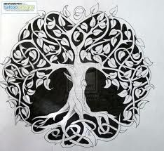 The Celtic Tree of Life. Really want it on my wrist, but with the gorgeous leaf detail? Maybe on my hip...
