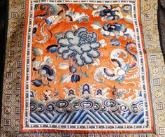 Antique Chinese Embroidery Panel Handwork 19th Century by ElegantArtifacts on Etsy