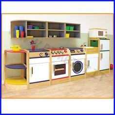 Cucina gioco completa in legno, bellissima e super sicura!!