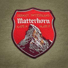 Matterhorn-Patch von ExpeditionSouvenirs auf Etsy