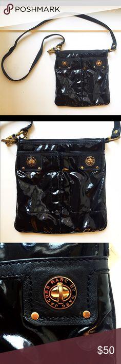 Marc By Jacobs Shiny Black Crossbody Bag