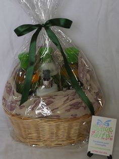 Gift basket for a Mum-to-be containing Faith in Nature products and Skull&Crossbones scarf