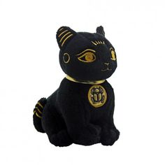 Egyptian Legendary Mummy God Anubis Cute Puppy Plush Doll in Black and Gold