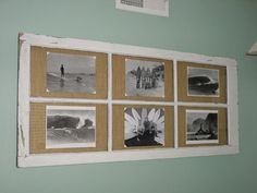 Old Window Frame Decorating Ideas This picture frame was made