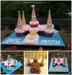 DIY Castle Pull Apart Cupcake Cake