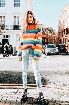 18 Reasons Spring Is Still Sweater Weather Spring sweaters are seasonal essentials. Here are 18 lightweight picks perfect for temperamental temperatures. Mode Outfits, Winter Outfits, Casual Outfits, Classy Outfits, Summer Outfits, Grunge Outfits, Winter Dresses, Sweater Weather, Fashion Pants