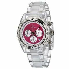 Toy Watch Women's Quartz Chronograph Analog Watch Amazing Watches, Beautiful Watches, Rolex Watches, Wrist Watches, Chronograph, Quartz, Toy, Bling, Jewels