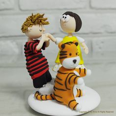 Calvin and Hobbes cake topper!