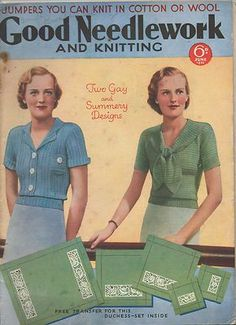 Good needlework and knitting June 1936