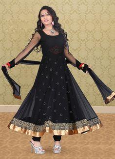 Fascinating Net Ankle Length Anarkali Suit