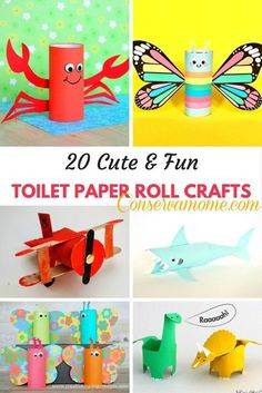 Toilet Paper Roll Crafts - Get creative! These toilet paper roll crafts are a great way to reuse these often forgotten paper products. You can use toilet paper rolls for anything! creative DIY toilet paper roll crafts are fun and easy to make. Paper Towel Roll Crafts, Paper Towel Rolls, Toilet Paper Roll Crafts, Diy Paper, Paper Art, Toilet Paper Rolls, Paper Towels, Toddler Crafts, Diy Crafts For Kids