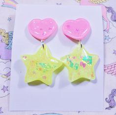 80's POP Earrings- Heart ♡ Star · Pastel Galaxyz · Online Store Powered by Storenvy
