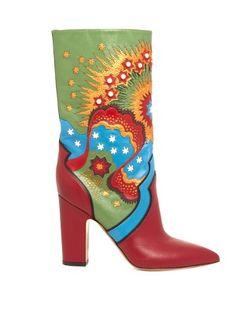 Enchanted Wonderland leather boots | Valentino | MATCHESFASHION.COM UK