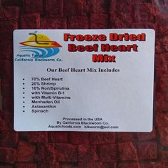 Beef Heart Mix--Freeze Dried for Discus, Cichlids, All Tropical Fish Food   Pet Supplies, Fish & Aquariums, Food   eBay!