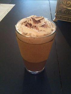 Mocha Espresso. Double chocolate, double espresso, whipped cream