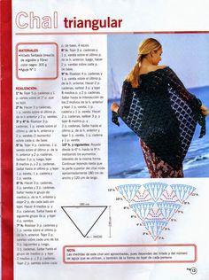 Todo crochet: Cómo tejer un chal triangular - Revista