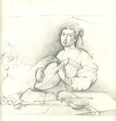 """Drawing after Caravaggio,"" from Draw! The Guided Sketchbook That Teaches You How to Draw"