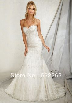 High quality mermaid sweetheart crystal sexy wedding dresses low back popular wedding gowns best selling bridal dresses