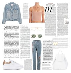 """""""Untitled #408"""" by gezelxizv ❤ liked on Polyvore featuring Frame, Alexander McQueen, N°21, Ray-Ban and Eyevan 7285"""